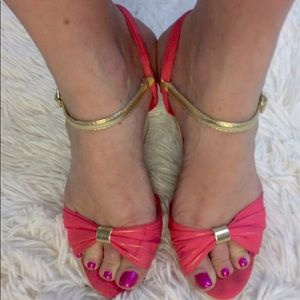 Qupid Shoes - QUPID SALMON STRAP WEDGES